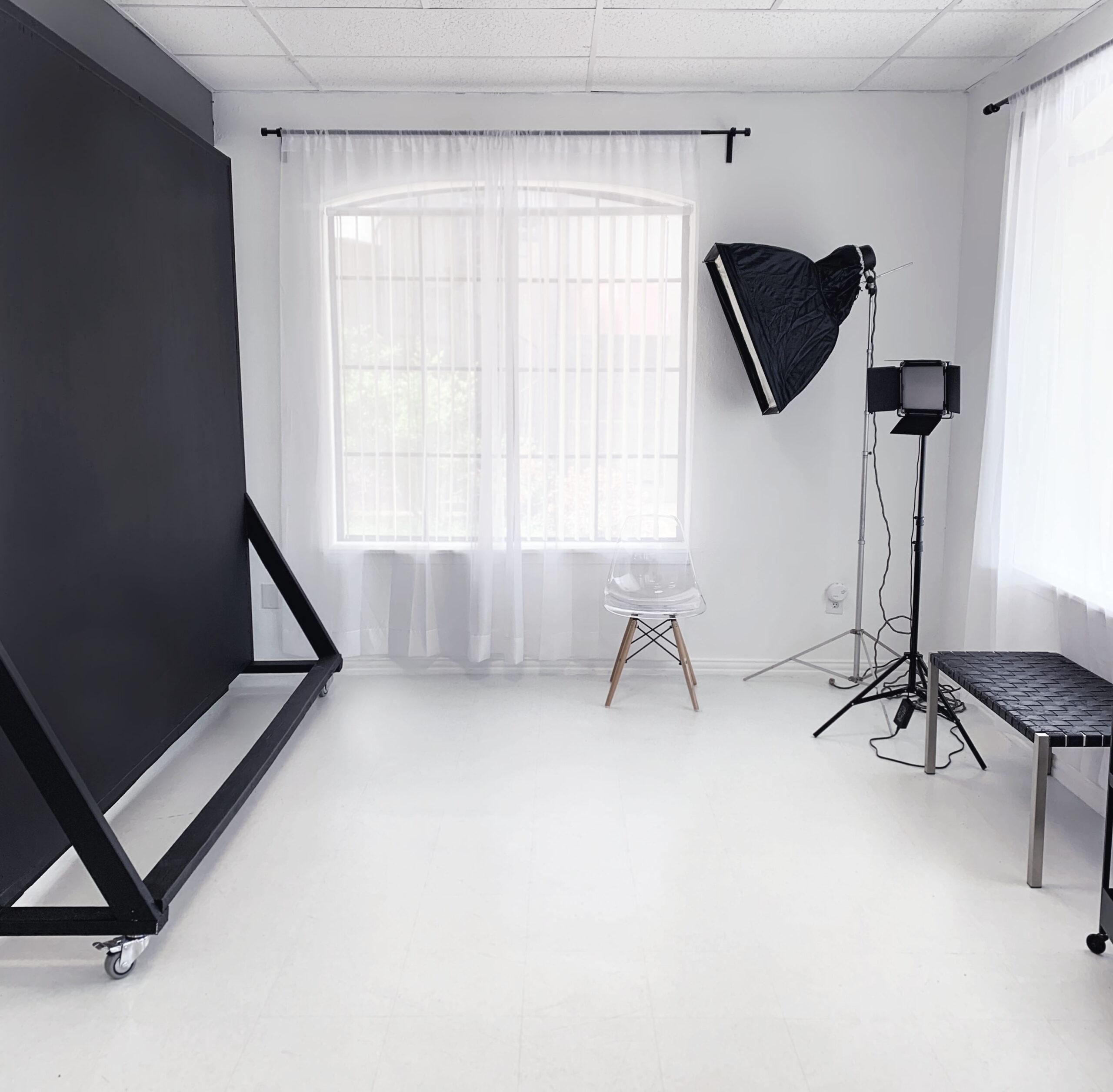 Black Moveable Backdrop at Sun Catcher Studio