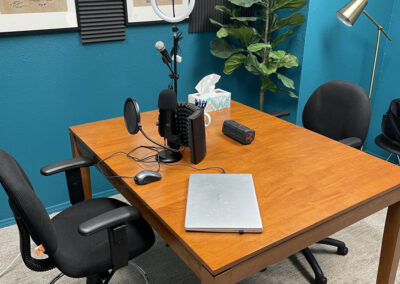 Podcast Room at Sun Catcher Studio